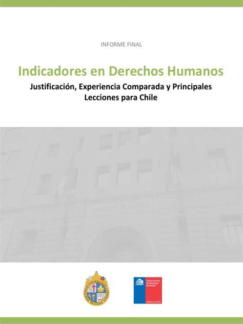 Informe Final Consultoría Subsecretaría DD.HH.   Derechos ...