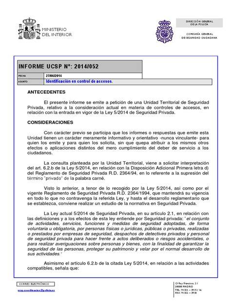 Informe UCSP Identificación en Control de Accesos ...