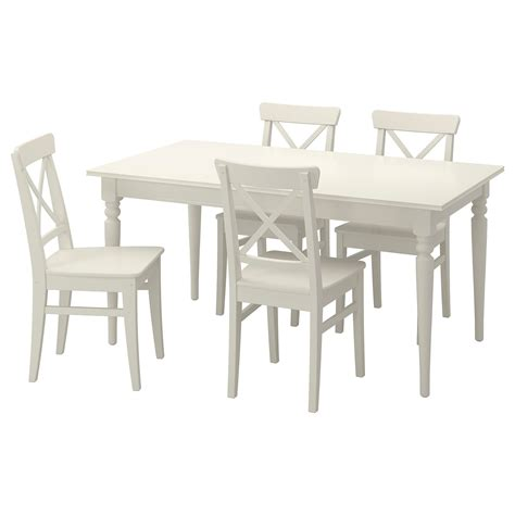 INGATORP / INGOLF Mesa con 4 sillas, blanco   IKEA