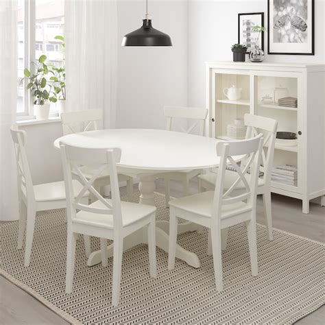 INGATORP Mesa extensible, blanco, longitud máxima: 155 cm ...