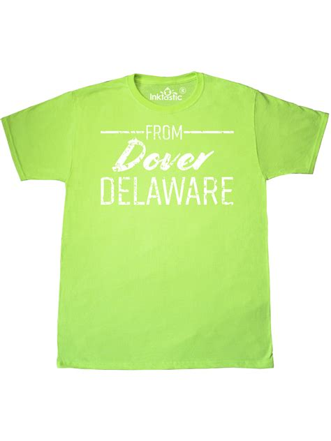 INKtastic   From Dover Delaware in White Distressed Text T ...