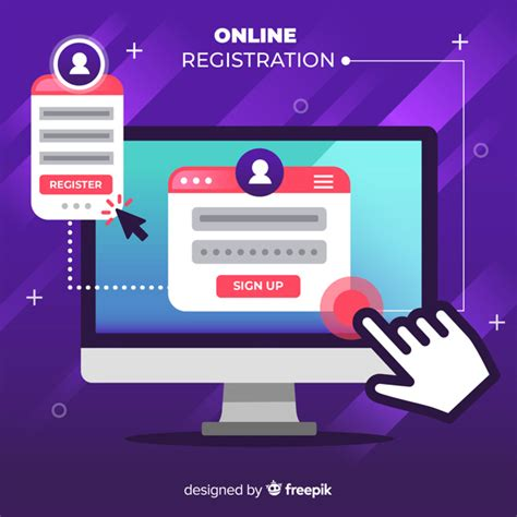 Inscripción online | Descargar Vectores gratis