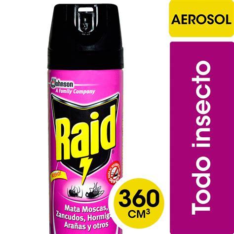 Insecticida Raid mata Hormigas, Moscas, Zancudos, todo ...