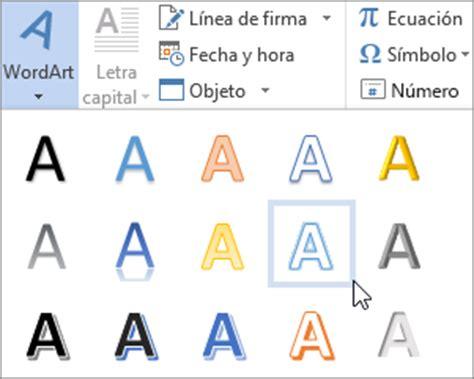 Insertar WordArt   Soporte de Office