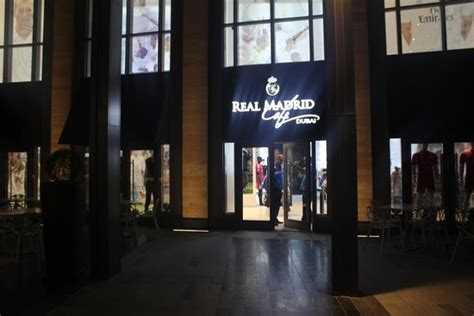 Inside the shop   Picture of Real Madrid Cafe, Dubai ...