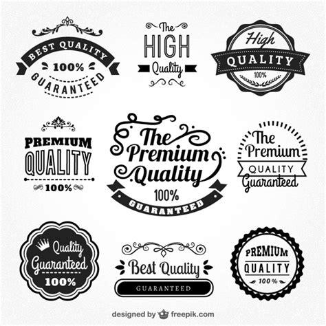 Insignias de calidad premium   Descargar Vectores gratis
