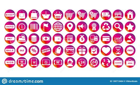 Instagram Stories Business Icons Set Stock Vector ...