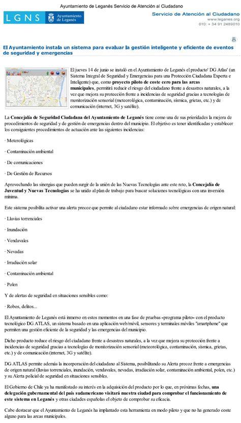 Instalacion ATLAS Leganes_AYTO LEGANES   TECNOGRUPO