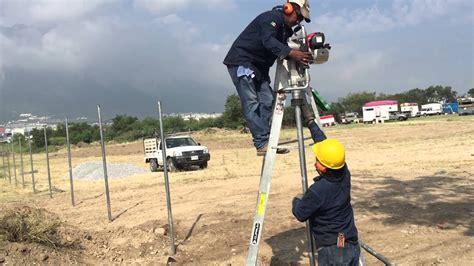 Instalación de Malla ciclonica y postes para cercas de ...