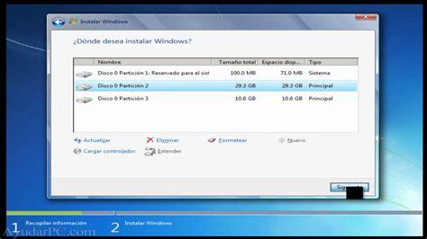 Instalación de Windows 7 paso a paso   YouTube
