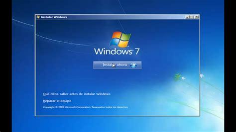 Instalación de Windows 7 Professional   32bits   YouTube