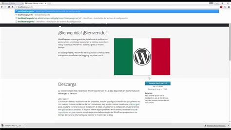 Instalación de wordpress en un servidor local   tutorial ...