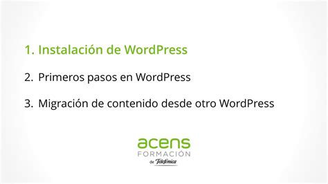 Instalación de WordPress   Hosting de acens y WordPress  1 ...