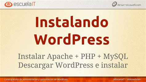 Instalación de Wordpress sobre Windows y Mac   YouTube
