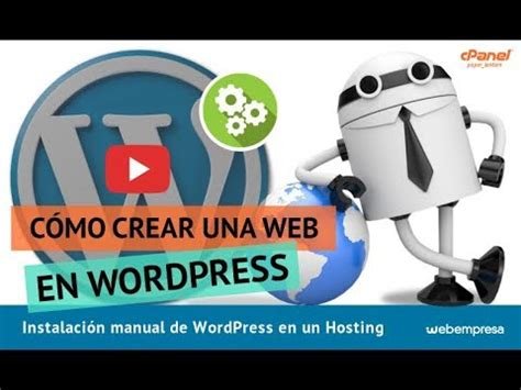 Instalación manual de WordPress en un Hosting   YouTube