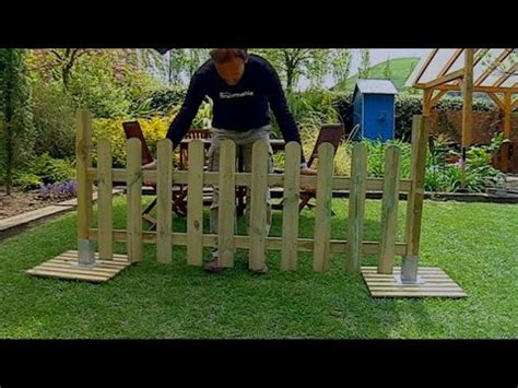 Instalar valla de madera   Bricomania   YouTube