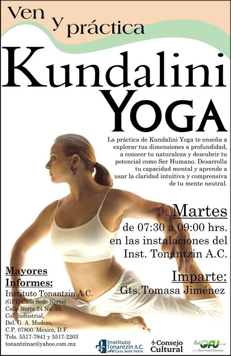 Instituto de Yoga Tonantzin A.C.: Clases de Kundalini Yoga ...