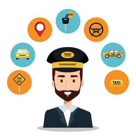 Instrutor de serviço de táxi do motorista | Baixar vetores ...