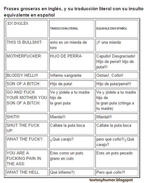 Insultos y palabras groseras en inglés   Textos de humor