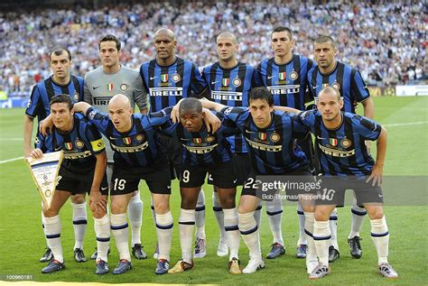 Inter Milan team group before the start of the UEFA ...