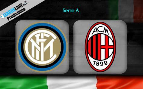 Inter Milan vs AC Milan Prediction, Betting Tips & Match ...