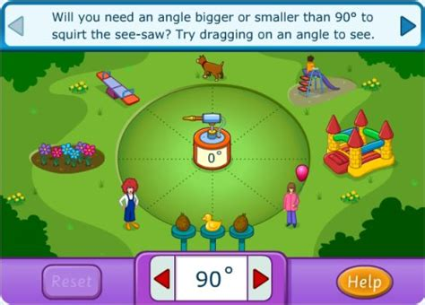 Interactive Angles Games   Playground   Squirt the Dog