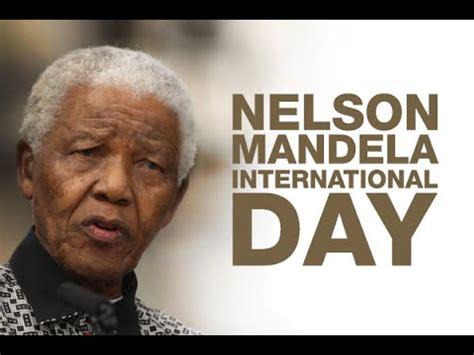 International Nelson Mandela Day July 18 VR4U   YouTube