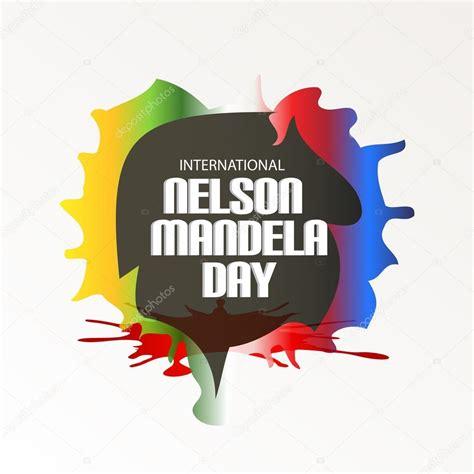 International Nelson Mandela Day. — Stock Vector  SSDN ...