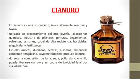 Intoxicaciones por cianuro y formaldehido clase3