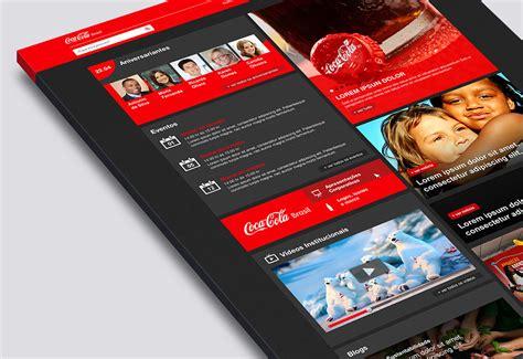 Intranet Coca Cola on Behance