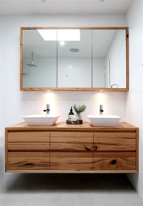 Introducing   the Iluka wall hung recycled timber vanity ...