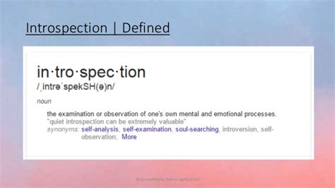 Introspection: The Key to Making Your Environment ...