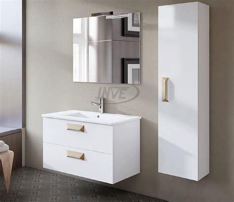 INVE Mueble de Baño Modelo ALBERTA Suspendido Blanco de 80cm