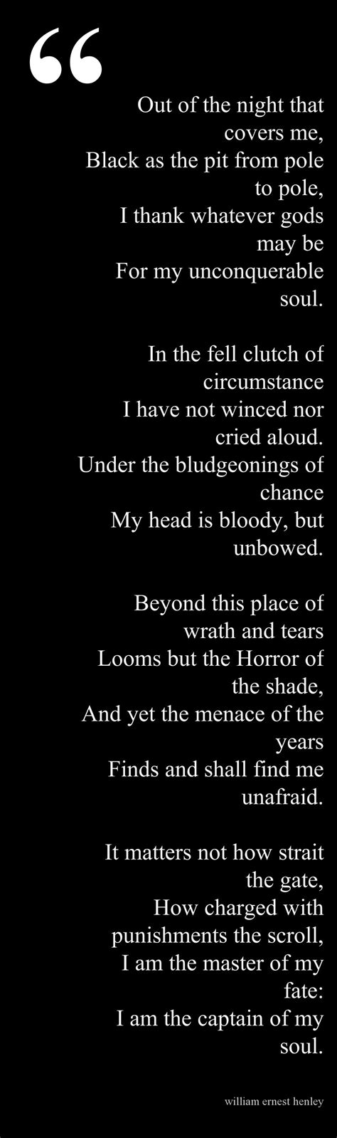 Invictus  This is the poem which sustained Nelson Mandela ...