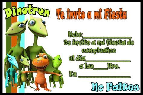 Invitacion de Dinotren   Tarjetas de cumpleaños para ...