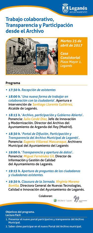 Invitación Jornadas Archivo Municipal de Leganés. 25 Abril ...