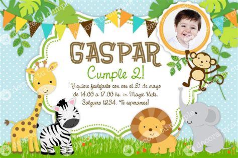 Invitaciones De Cumpleaños De Animales En Hd Gratis Para ...