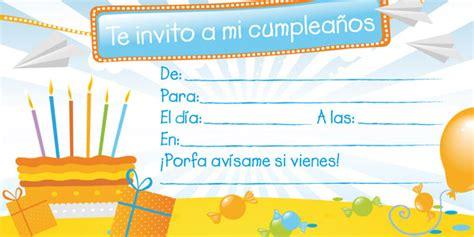 Invitaciones de Cumpleaños para imprimir | Tarjetas de ...
