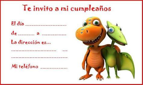 Invitaciones para cumpleaños de dinosaurios   Manualidades ...