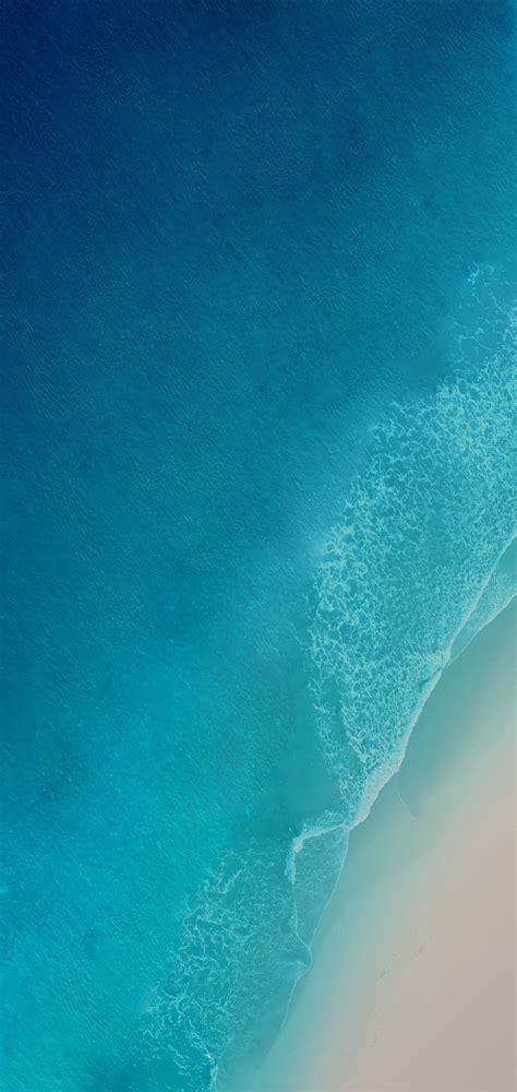 iOS 12, iPhone X, Aqua, blue, Water, ocean, apple ...