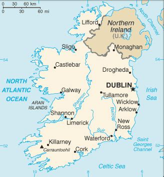 Ireland   Google Maps World Gazetteer & Google Route Planner