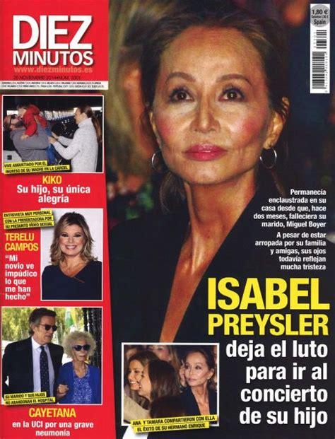 Isabel Preysler deja el luto para ir al concierto de su ...