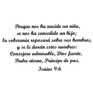 Isaiah 9:6 in Spanish UNMOUNTED rubber stamp religious ...