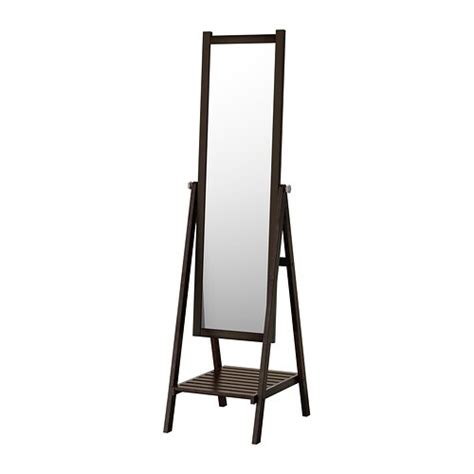 ISFJORDEN Standing mirror   black brown stain   IKEA