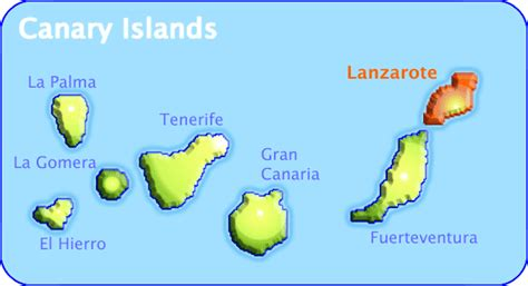 Islas Canarias Mapa Imagen