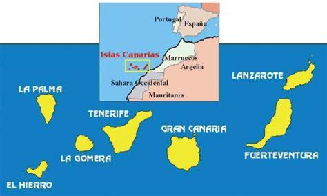 Islas Canarias mapa y gastronomía   Sitios donde viajar