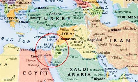Israel map: Eurovision 2019 is in Israel   Is Israel ...