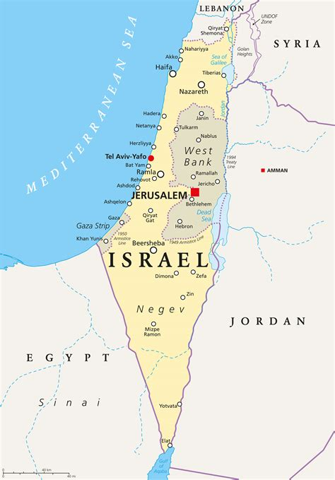 Israel Map   Guide of the World