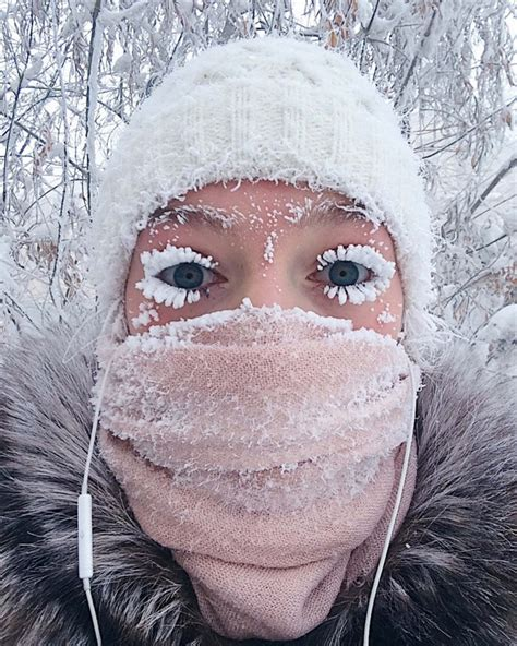 It s  62°C in Russia and people s eyelashes are freezing ...