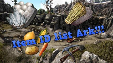 Item spawn ID Ark Survival Evolved   YouTube